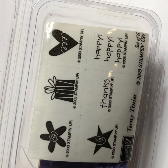 NWT 6 Teeny Tinies Stamp Scrapbooking Stampin Up